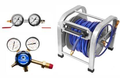 Hose reel and regulator small